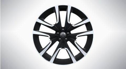 "XC60 22"" 5-Double Spoke Matt Black Diamond Cut Alloy Wheel"